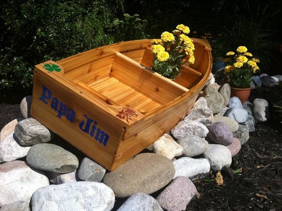 Nautical Outdoor Decor Ideas: Nautical Wooden Outdoor Landscape All Cedar Boat Garden