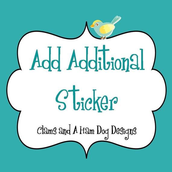 Add a single sticker to your set- Just Born, Newborn, 0 months- monthly bodysuit stickers- monthly baby sticker- monthly milestone stickers
