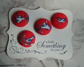 Swallow tails- fabric covered buttons collection size 45
