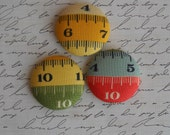 Measuring tape - fabric covered  button collection  - size 60