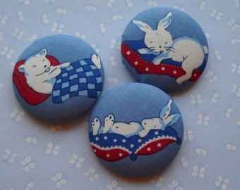 time for bed - fabric covered button collection 1