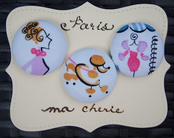 Parisian Boutique-fabric covered button collection