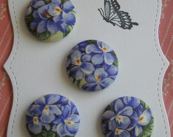 Posies - fabric covered button collection - size 45