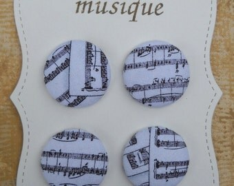 Musique- fabric covered button collection- size 45