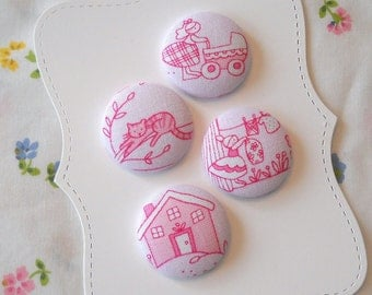 New- My little world- fabric covered button collection  - size 45