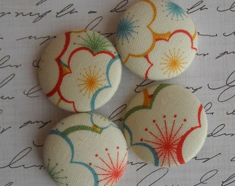 Sakura - fabric covered button collection- size 45