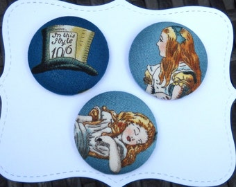 Alice - fabric covered  button collection  - size 60
