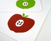 Apple Note Cards (set of 8)