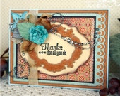 Thanks for All You Do Handmade Thank You or Friendship Card