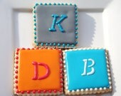 Custom  Modern Monogram Cookies 1 dozen