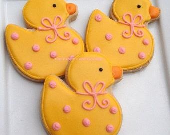 Custom Rubber Duck Cookies 1 dozen