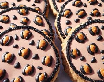 Leopard  print cookies 1 dozen