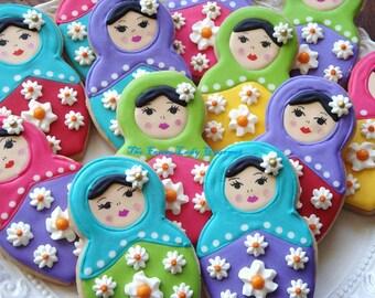 Custom Russian Doll Cookies 1 dozen