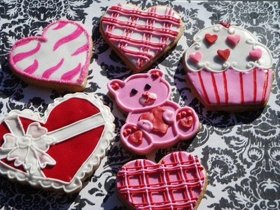 SALE Ready to ship Valentine 14  cookie assortment