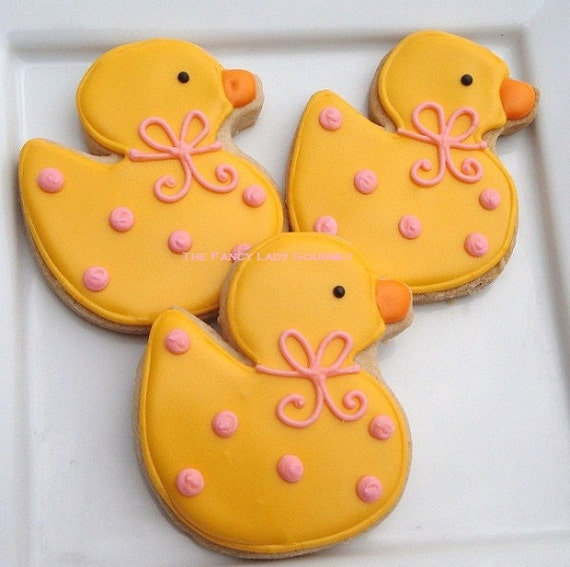 Custom Rubber Duck Cookies 1 dozen