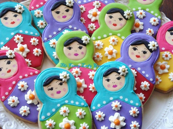 Custom Russian Doll Cookies 1 dozen