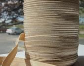 "5/8"" Inch Fold Over Elastic - 5 Yards of  Sandstone FOE"