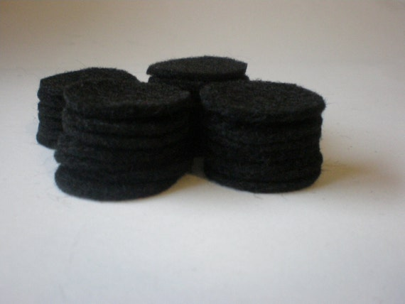 100 - 2.5 Inch Die Cut Felt Circles, Black OR Your choice of color