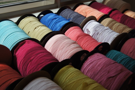 Sample Pack- 27 Just In Colors- Yards Fold Over Elastic (FOE) Multi-Color