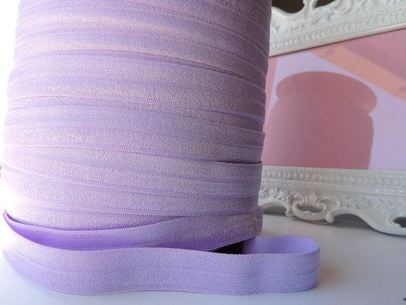 "5/8"" Inch Fold Over Elastic - 4 Yards of Light Purple  FOE"