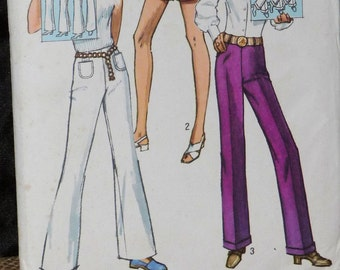 Simplicity Pattern for Pants and Shorts from 1970s