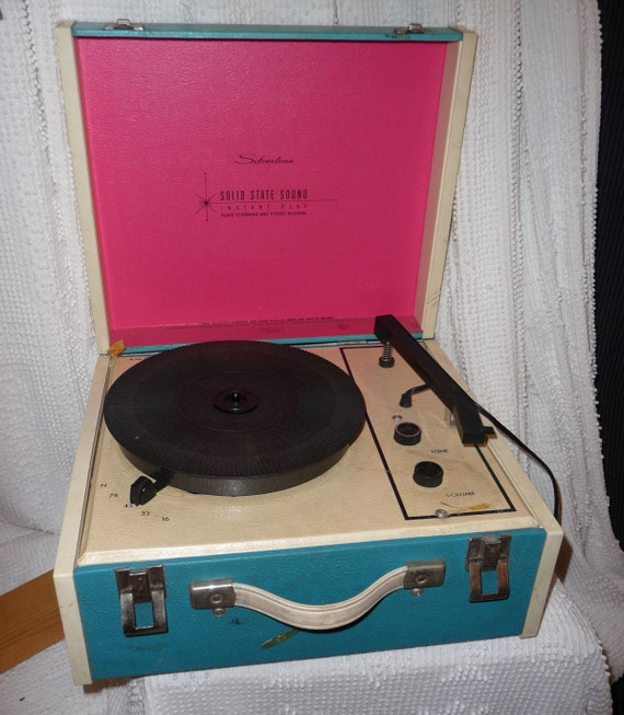 Vintage Silvertone Portable Kids Record Player by ...