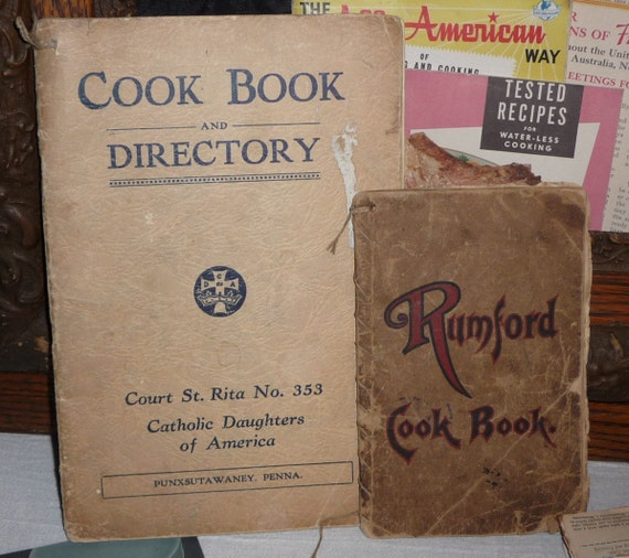 Vintage Cookbooks Party Recipes All American TV Guide Rumford Catholic Daughters Cookbook Directory