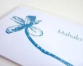 Thank You Card with Hawaiian Tropical Tree Design