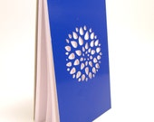 Notepad with Cut Poster Board Cover in Royal Blue