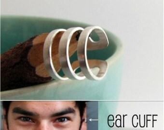 Ear Cuff earring for men -  Handmade Male Ear Cartilage Cuff Jewelry - Non Pierced Ear Cuff (102A)