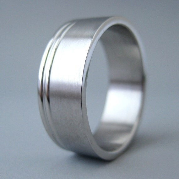 Stainless Steel Silver Mens Ring Wedding Band Or Casual Ring