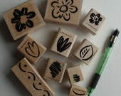 SUPPLIES sALe FANCIFUL FLOWERS Stampin Up Rubber Stamps Set...for cards, scrapbooking, collage, archiving, crafts, business etc.