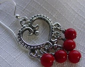 Hearts of Red Earrings