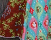 Size 5 - 7 Holiday Skirt \/ Girls Mod Reindeer Holiday Skirt by Sweet Blossom Boutique