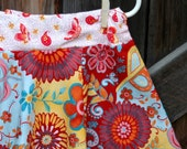 Size  5 - 7 Skirt  \/ Girls Autumn Floral Skirt by Sweet Blossom Boutique