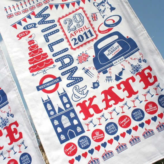 William and Kate Royal Wedding Commemorative tea towel
