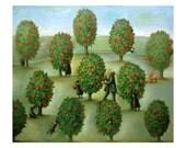 Limited Edition Print 14 x 11 - Gardener and Sasanquas 7/50