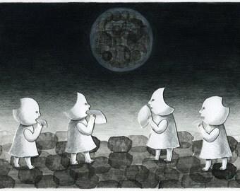 Limited Edition Print A4 size - Lunar eclipse 2/50