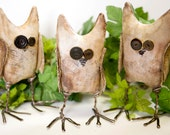 Primitive Hoot Owl Soft Sculpture