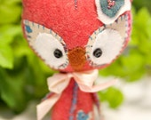 Baby Spring Owl wool mini plush Pixie