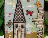 Mini mixed media wood canvas Love and Be Loved