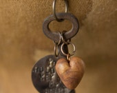 You Hold The Key to My Heart Hand stamped Antique Skeleton Key Necklace