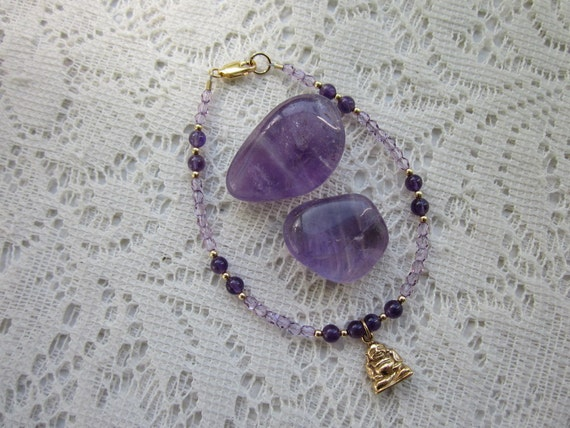 Buddha Bracelet with Amethyst, FREE Shipping with coupon code FreeShipping