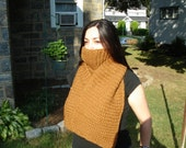 Nepal Nights: Burnt Orange Rustic Wool Scarf