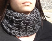 Charcoal Gray Neckwarmer Scarf