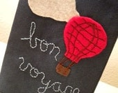 Bon Voyage Passport Cozy with Embroidered and Appliqued Embellishment