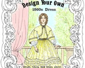 Design Your Own 1860s Victorian Dress Kit