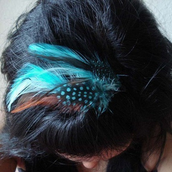 Isabella Feather Hair Clips