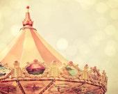 Carnival Swings-  8 X 10 - Bokeh Tent State Fair Pop Surreal Whimsical