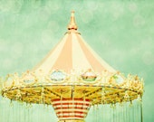 Carnival Swing Photo - 5 X 7 Photography Print - Carnival Retro Vintage Swings Fair Summer Fun Nursery